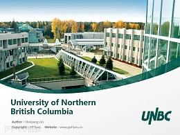 University of Northern British Columbia powerpoint template download | 北英属哥伦比亚大学PPT模板下载