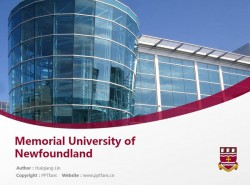Memorial University of Newfoundland powerpoint template download | 纽芬兰纪念大学PPT模板下载
