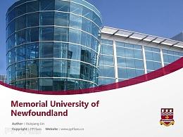 Memorial University of Newfoundland powerpoint template download | 纽芬兰纪念大学PPT模板下载