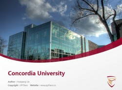 Concordia University powerpoint template download | 肯高迪亚大学PPT模板下载