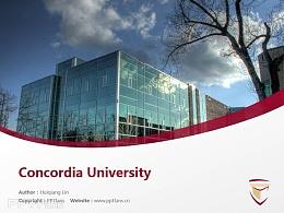 Concordia University powerpoint template download | 肯高迪亚大学PPT模板下载