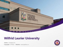 Wilfrid Laurier University powerpoint template download | 劳里埃大学PPT模板下载