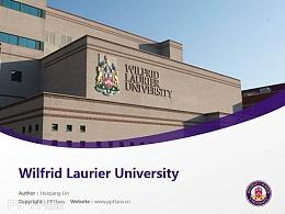 Wilfrid Laurier University powerpoint template download | 劳里埃大学PPT模板下载