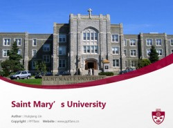 Saint Mary's University powerpoint template download | 圣玛丽大学PPT模板下载