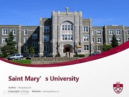 Saint Mary's University powerpoint template download | 圣玛丽大学PPT模板下载