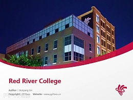 Red River College powerpoint template download | 红河学院PPT模板下载
