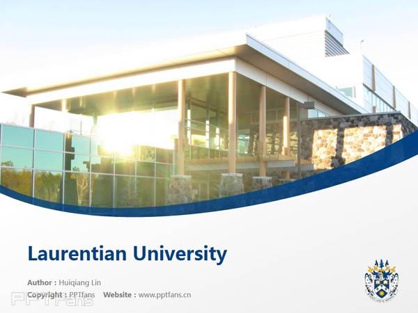 Laurentian University powerpoint template download   劳伦森大学PPT模板下载_幻灯片预览图1