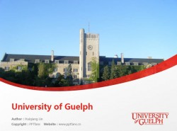 University of Guelph powerpoint template download | 圭尔夫大学PPT模板下载