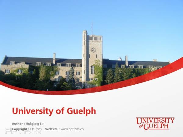 University of Guelph powerpoint template download | 圭尔夫大学PPT模板下载_幻灯片预览图1