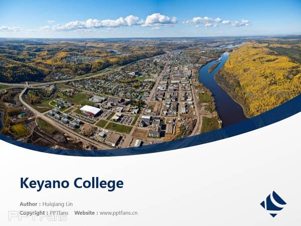 Keyano College powerpoint template download | 克亚诺学院PPT模板下载_幻灯片预览图1