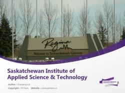 Saskatchewan Institute of Applied Science & Technology powerpoint template download   萨省应用科技学院PPT模板下载