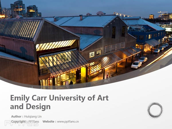 Emily Carr University of Art and Design powerpoint template download | 艾米丽卡尔艺术与设计大学PPT模板下载_幻灯片预览图1