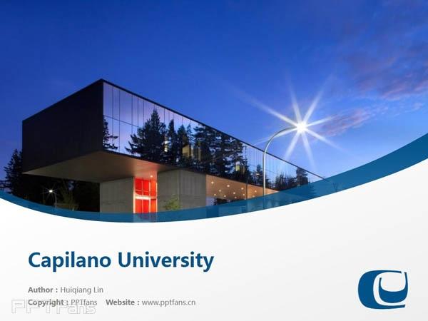 Capilano University powerpoint template download | 卡毕兰诺大学PPT模板下载_幻灯片预览图1