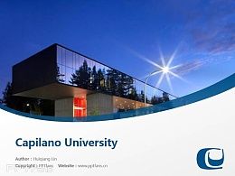Capilano University powerpoint template download | 卡毕兰诺大学PPT模板下载