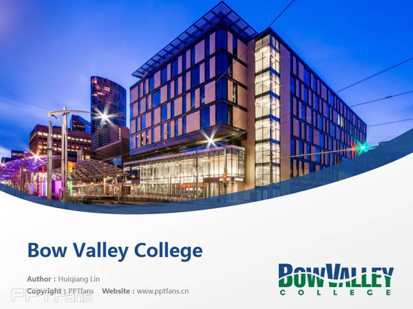 Bow Valley College powerpoint template download | 博瓦立学院PPT模板下载_幻灯片预览图1