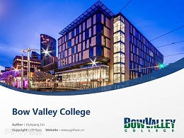 Bow Valley College powerpoint template download | 博瓦立学院PPT模板下载
