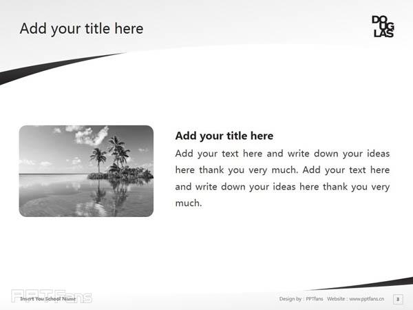 Douglas College powerpoint template download | 道格拉斯学院PPT模板下载_幻灯片预览图4
