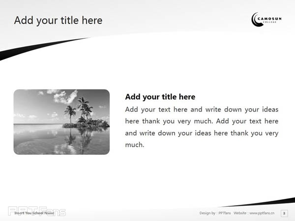 Camosun College powerpoint template download | 卡莫森学院PPT模板下载_幻灯片预览图4