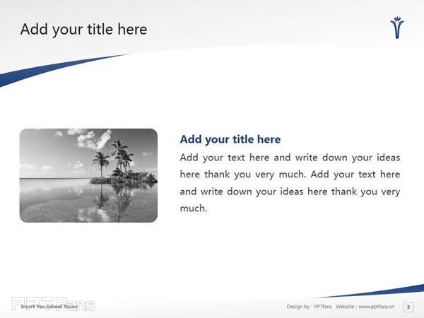 Trinity Western University powerpoint template download   西三一大学PPT模板下载_幻灯片预览图4