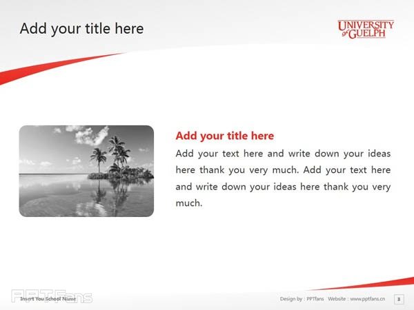 University of Guelph powerpoint template download | 圭尔夫大学PPT模板下载_幻灯片预览图4