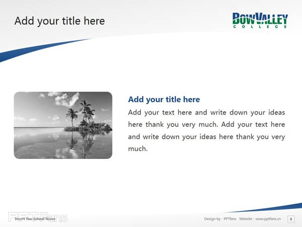 Bow Valley College powerpoint template download | 博瓦立学院PPT模板下载_幻灯片预览图4