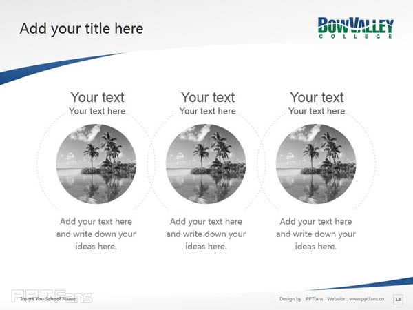 Bow Valley College powerpoint template download | 博瓦立学院PPT模板下载_幻灯片预览图14