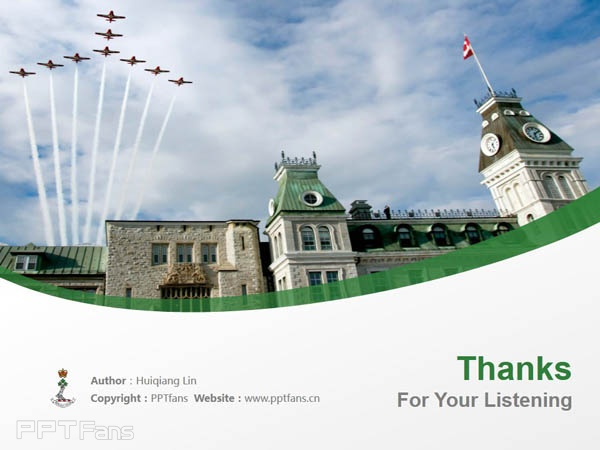 Royal Military College Canada powerpoint template download | 加拿大皇家军事学院PPT模板下载_幻灯片预览图18