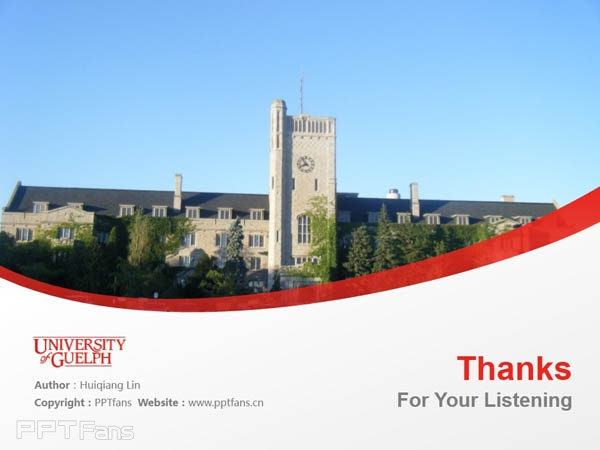 University of Guelph powerpoint template download | 圭尔夫大学PPT模板下载_幻灯片预览图18