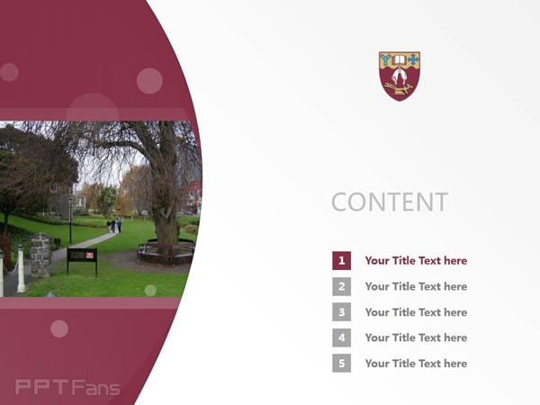 University of Canterbury powerpoint template download | 坎特伯雷大学PPT模板下载_幻灯片预览图2
