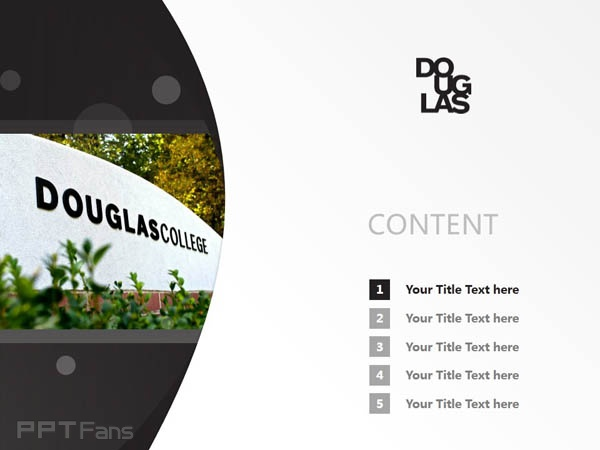 Douglas College powerpoint template download | 道格拉斯学院PPT模板下载_幻灯片预览图2