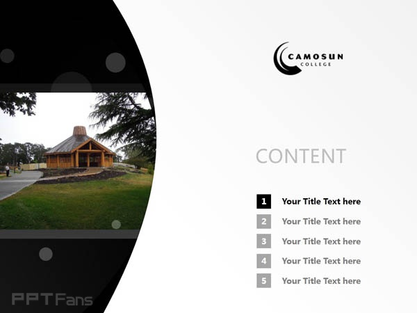Camosun College powerpoint template download | 卡莫森学院PPT模板下载_幻灯片预览图2