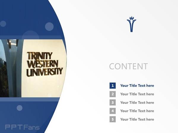 Trinity Western University powerpoint template download   西三一大学PPT模板下载_幻灯片预览图2