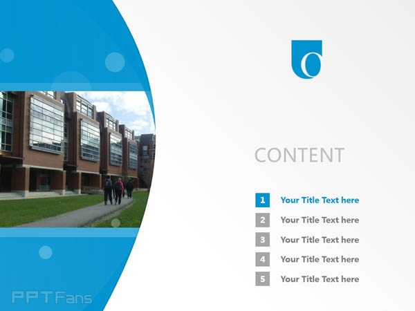 University of Ontario Institute of Technology powerpoint template download   安大略理工大学PPT模板下载_幻灯片预览图2