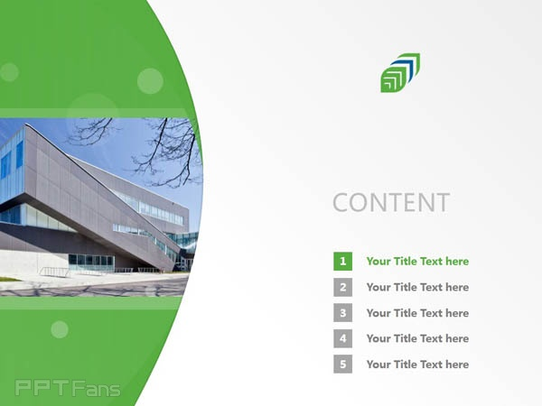 Georgian College of Applied Arts and Technology powerpoint template download   乔治亚学院PPT模板下载_幻灯片预览图2