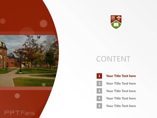 University of Prince Edward Island powerpoint template download | 爱德华王子岛大学PPT模板下载_幻灯片预览图2