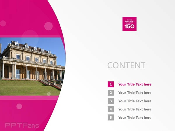 Oxford Brookes University, ICELS powerpoint template download | 牛津布鲁克斯大学PPT模板下载_slide1