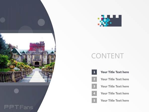 Royal Roads University powerpoint template download | 皇家路大学PPT模板下载_幻灯片预览图2