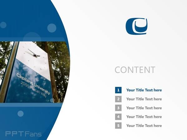 Capilano University powerpoint template download | 卡毕兰诺大学PPT模板下载_幻灯片预览图2