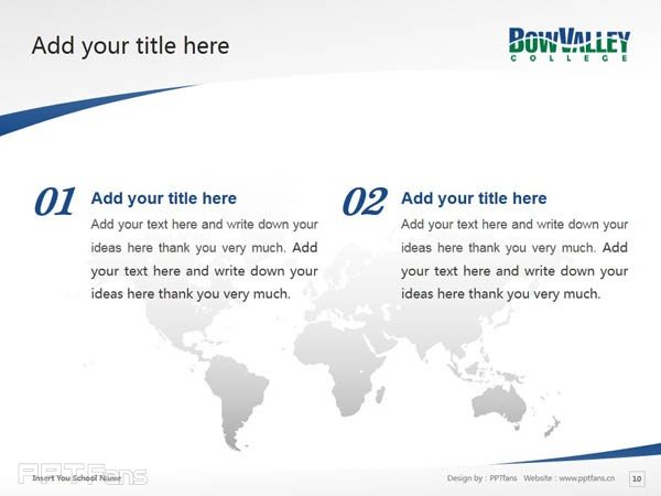 Bow Valley College powerpoint template download | 博瓦立学院PPT模板下载_幻灯片预览图11