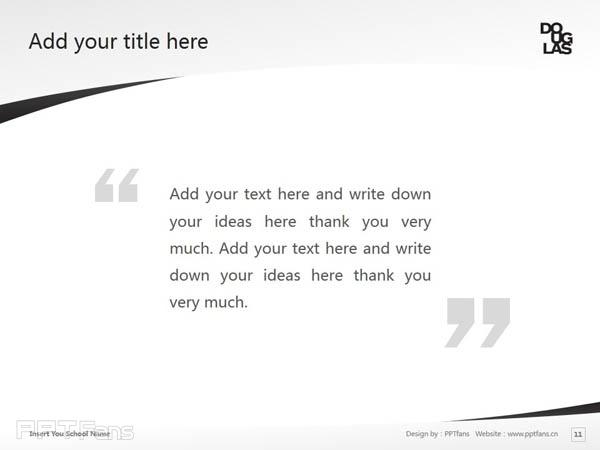 Douglas College powerpoint template download | 道格拉斯学院PPT模板下载_幻灯片预览图12
