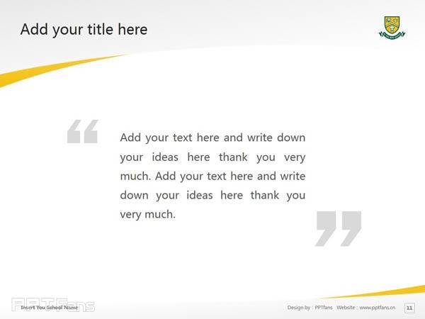 University of Regina powerpoint template download | 里贾纳大学PPT模板下载_幻灯片预览图12