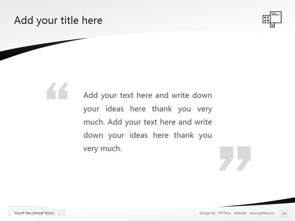 Ontario College of Art & Design powerpoint template download | 安大略艺术设计学院大学PPT模板下载_幻灯片预览图12