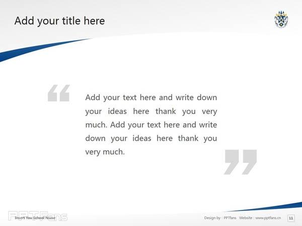 Laurentian University powerpoint template download   劳伦森大学PPT模板下载_幻灯片预览图12