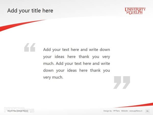 University of Guelph powerpoint template download | 圭尔夫大学PPT模板下载_幻灯片预览图12