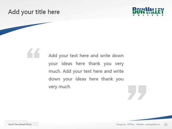 Bow Valley College powerpoint template download | 博瓦立学院PPT模板下载_幻灯片预览图12