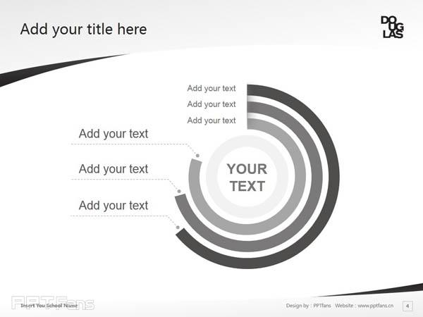 Douglas College powerpoint template download | 道格拉斯学院PPT模板下载_幻灯片预览图5