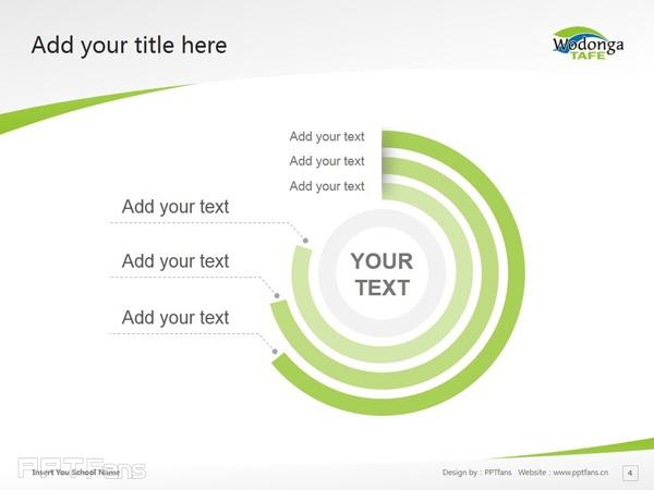 Wodonga Institute of TAFE powerpoint template download   沃东加技术与继续教育学院PPT模板下载_幻灯片预览图5