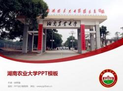 湖南农业大学PPT模板下载