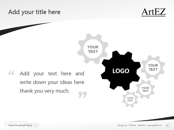 ArtEZ Institute of the Arts powerpoint template download | ArtEZ艺术学院PPT模板下载_幻灯片预览图10