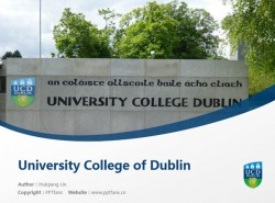 University College of Dublin powerpoint template download   都柏林大学学院PPT模板下载